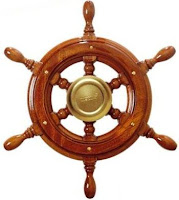 Vetus Traditional Style 6 Spoke Boat or Ships Wheel in Mahogany