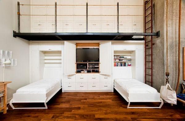 idées design lits escamotables, Maximiser les petits espaces,