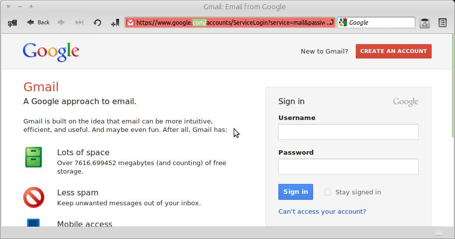 change gmail login page