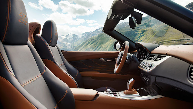 BMW Zagato Roadster side interior
