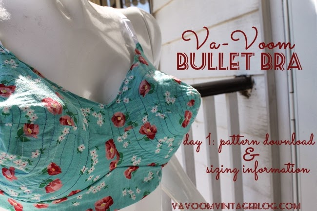 The Va-Voom Bullet Bra Sew-Along- Day 1 Pattern Download and Sizing ...