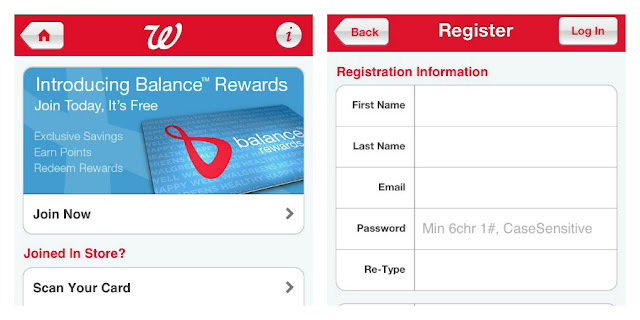 #Balance Rewards, registering for Walgreens loyalty card