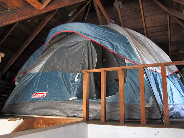 Tent in the Attic