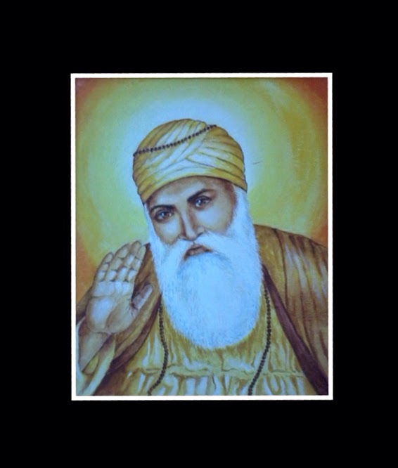 acrylic painting of Guru Nanak by Manju Panchal