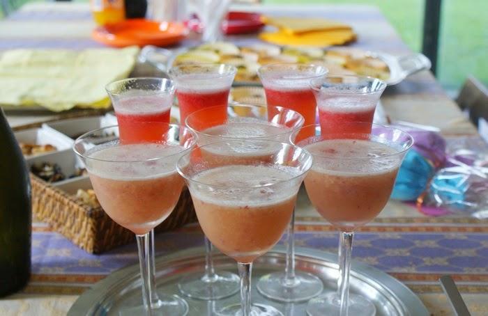 aperitif bellini rossini cocktail recipe