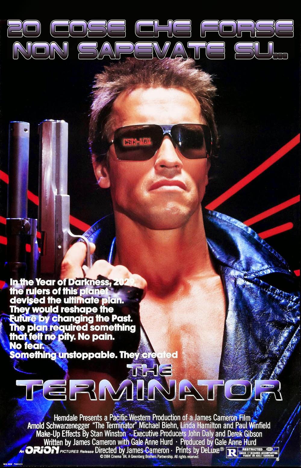 Terminator 1 curiosità trivia
