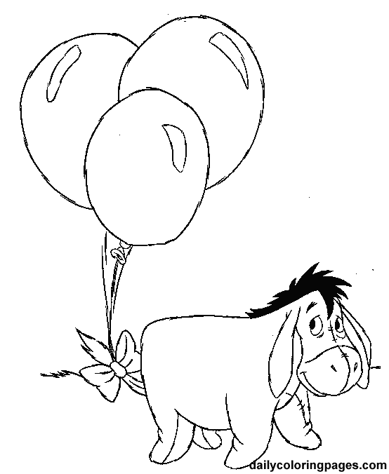 Eeyore Winnie The Pooh Coloring Pages Kids Coloring Pages Eeyore Coloring Page
