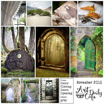 Art Daily Cafe Challenge - moodboard