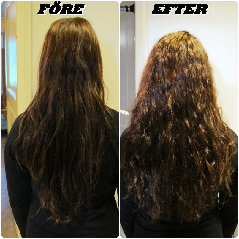 permanent platta håret hemma
