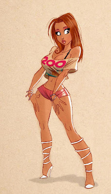 pin up caroon girl