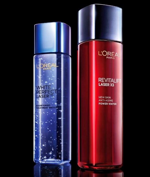 L'Oreal Paris Treatment Water in Malaysia,L'Oreal Paris, treatment water, Revitalift L.A.S.E.R X3 Skin Anti-Aging Power Water, Skin Anti-Aging Power Treatment Water, White Perfect Laser Brightening Treatment Water, Brightening Treatment Water, skin treatment
