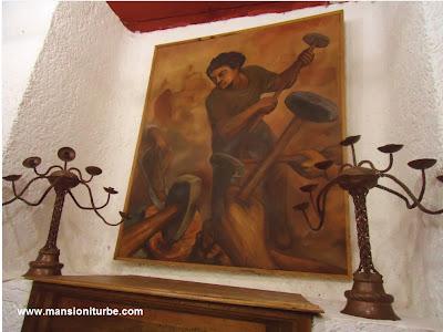 Pintura en el Museo Nacional del Cobre