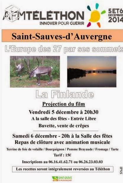 Téléthon 2014:saint Sauves d'Auvergne, 63