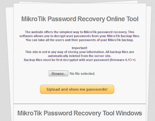 mikrotik password recovery online