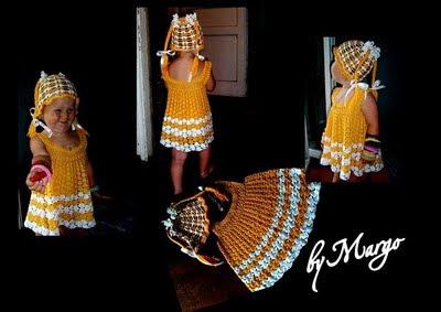 Детское вязаное кружевное платье на заказ фото