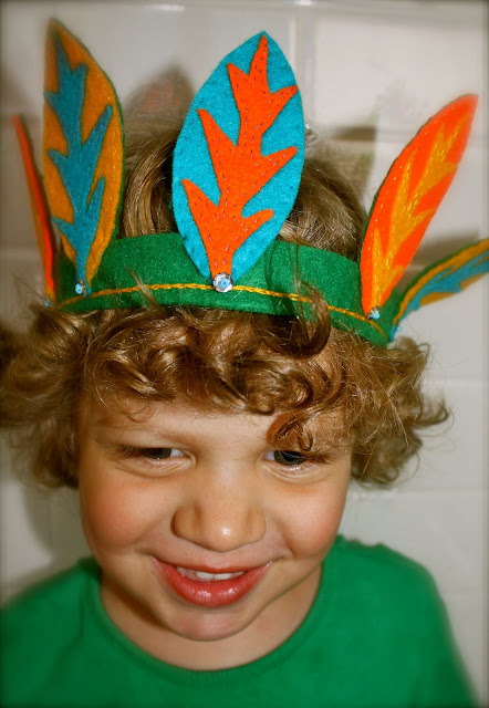 kid'e felt leaf crown