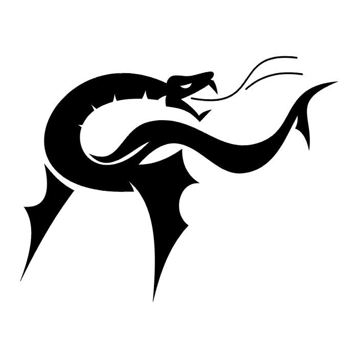 Tribal Dragon Stencils