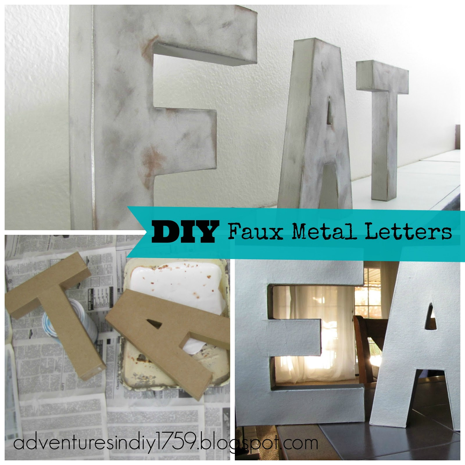 Adventures in DIY: Faux Metal Letters