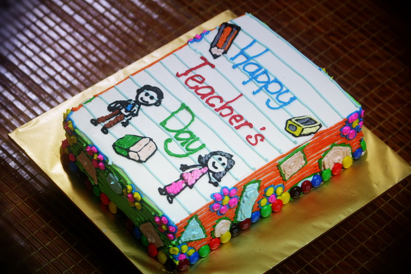 Cake Designs For Teachers Day : Rizq Cakes: teacher s day