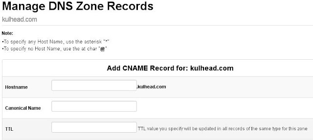You will add six CNAME  Records here, What? don't worry I will show you what to add  Just click on add CNAME  Records.