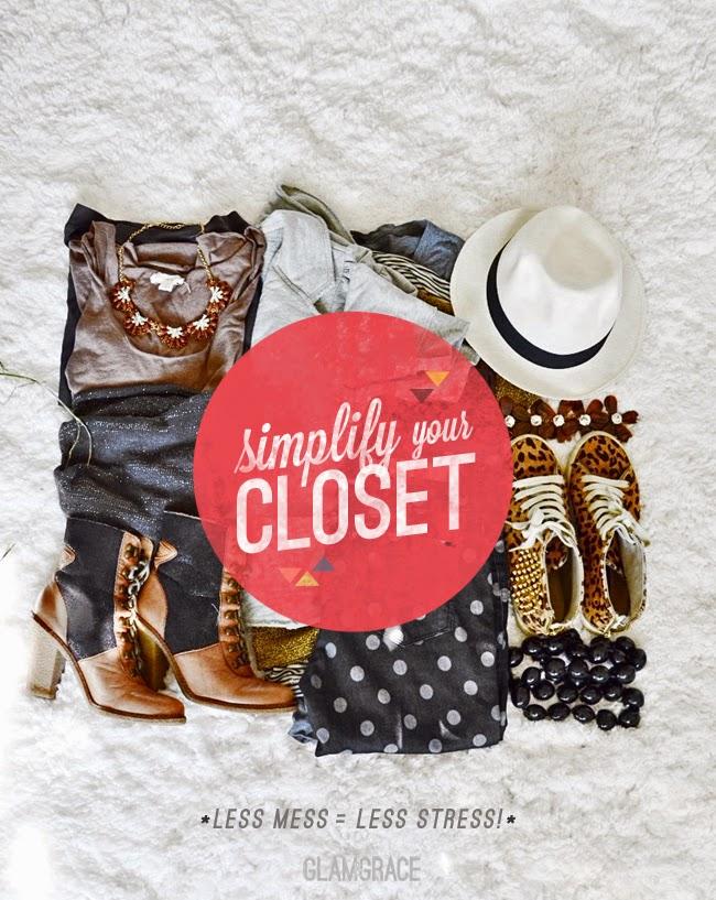 Simplify Your Closet - Less Mess = Less Stress