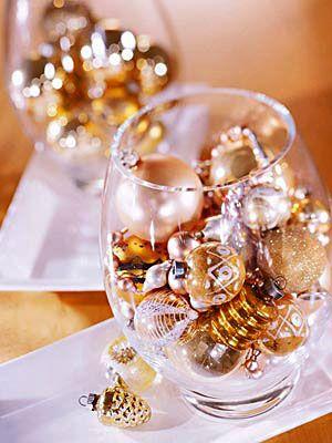 Ideia decoração réveillon Ano novo copos
