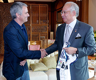 Gambar Jose Mourinho dan Najib