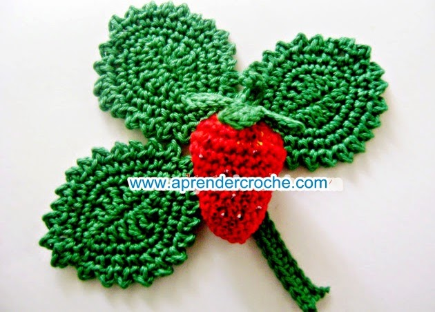 aprender croche folhas frutas legumes morangos dvd video aulas edinir-croche loja curso de croche