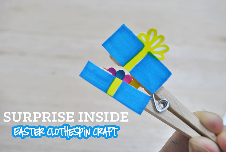 Surprise Inside Easter Clothespin Craft
