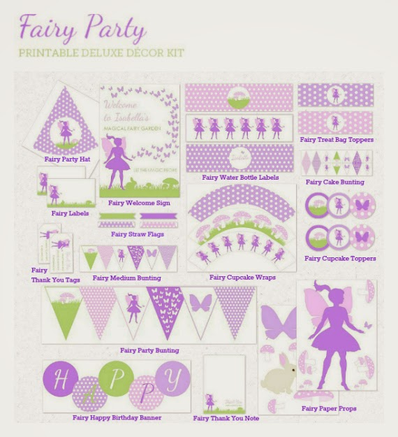fairy party decorations supplies and printables