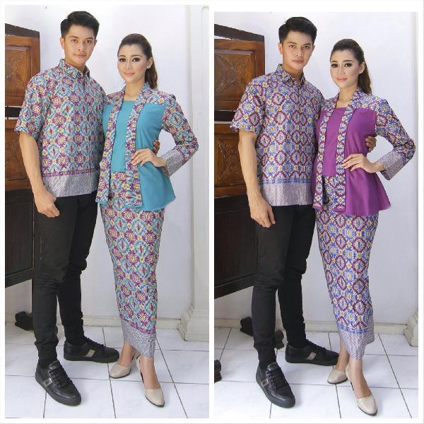 Baju Gamis Batik Pasangan - Muslim | Jual Baju Batik Pasangan Modern