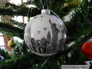 enfeite de Natal de Nova York