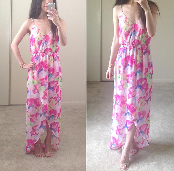Tulip hem maxi dress
