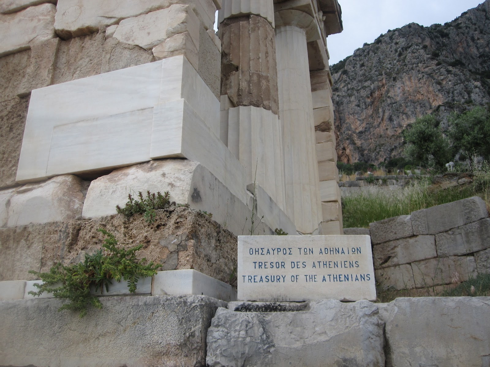 londinoupolis: The treasury of the Athenians in Delphi