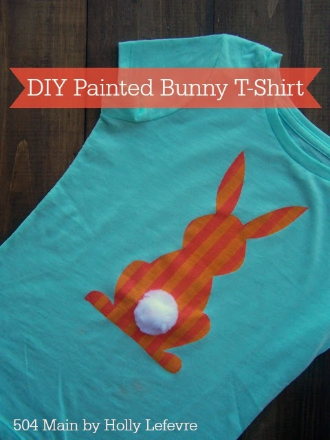 DIY Painted Bunny Shirt by 504 Main