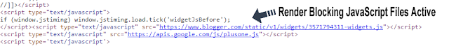 render blocking javascript