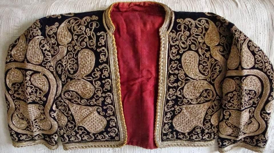 sarı sırmalı cepken,armut modelli cepken,havran cepkeni,osmanlı cepkeni,cepken,antika cepken,balıkesir cepkeni,antika el işlemeleri
