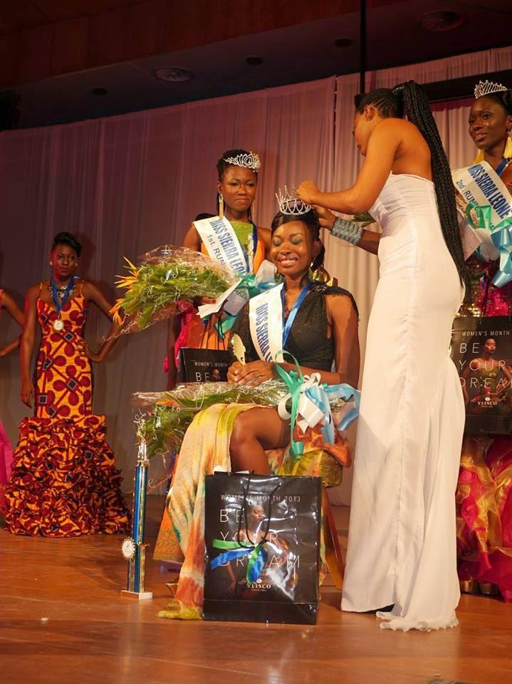 Miss Sierra Leone 2014 winner Margaret Murray