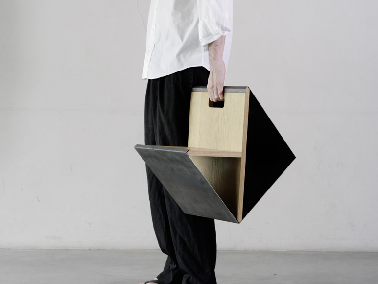 Noon Studio Have Designed A Portable Stool.The Stool Was Made Of A Simple  Metal Steel Supported By The Minimally Designed Wooden Y Frame Which Can Be  ... Idea