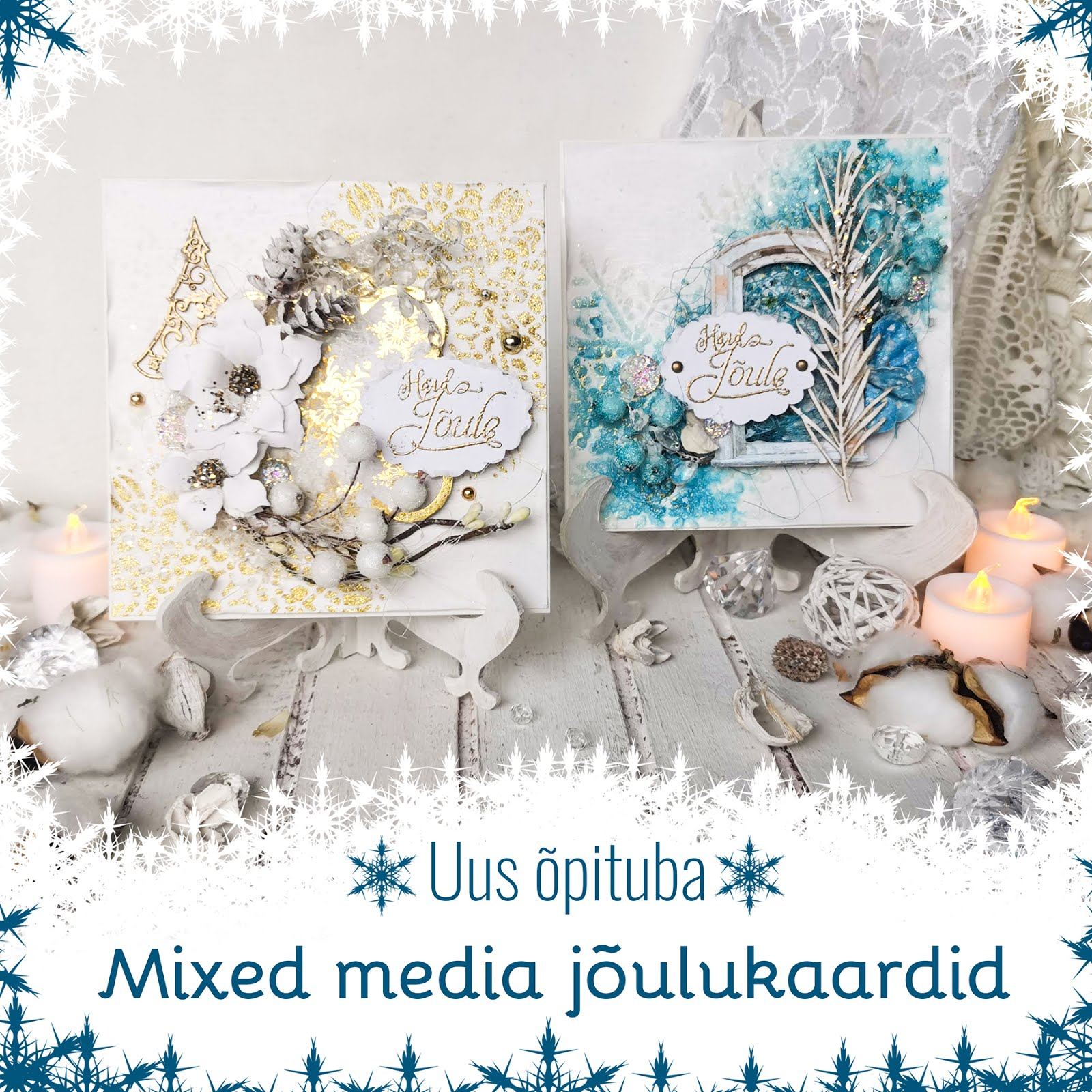 Mixed media kaartide õpituba Tallinnas 11.12.2020