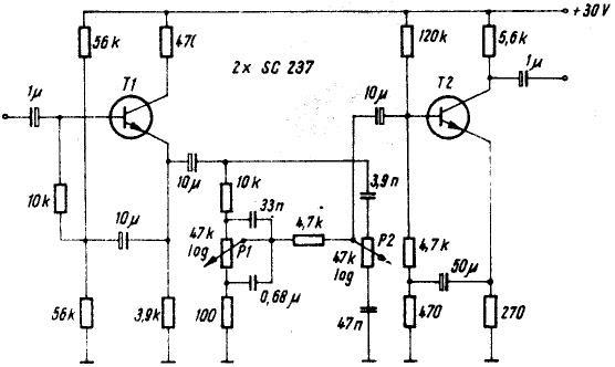scheme electronice  corector de ton