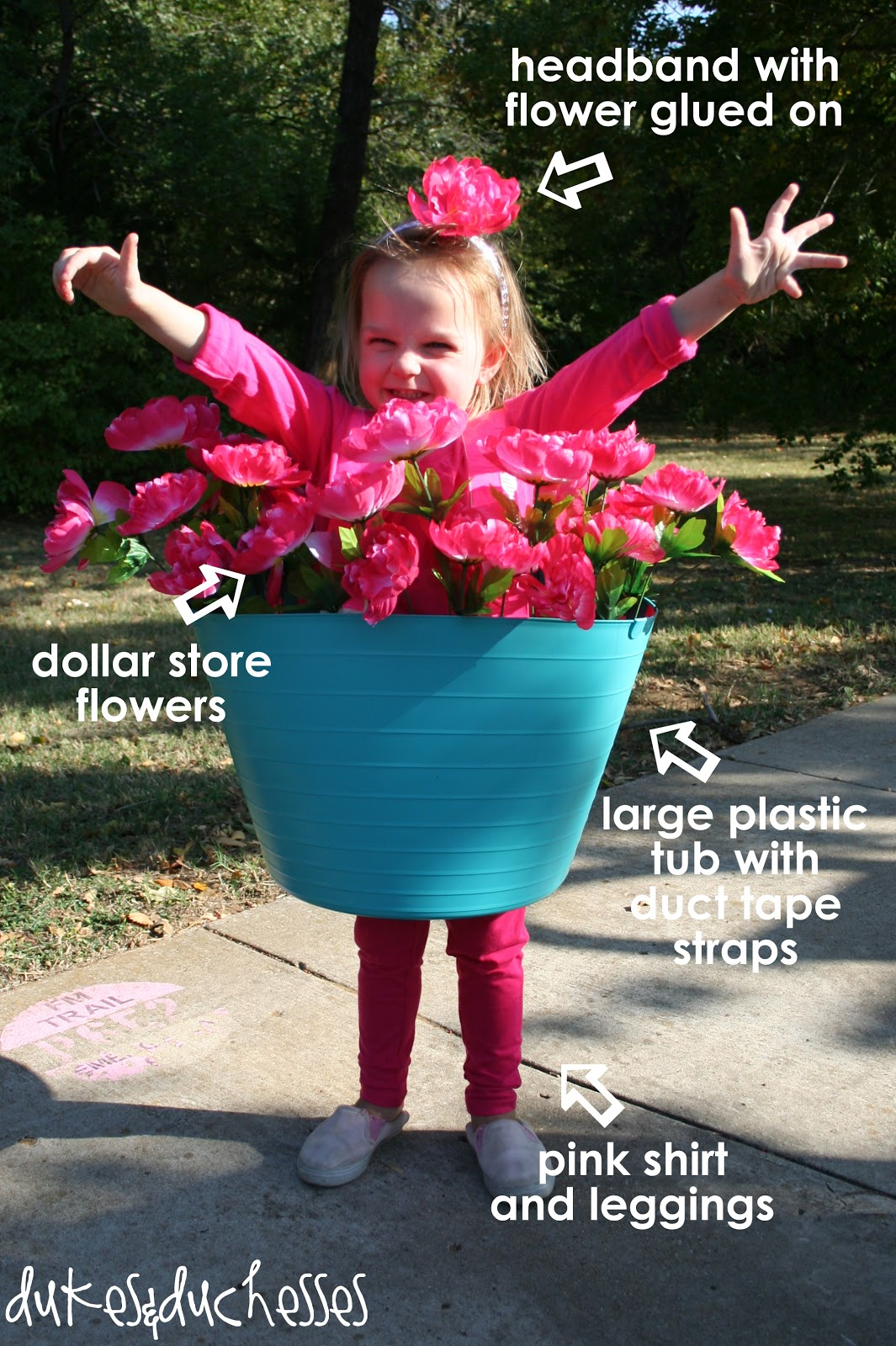 flower pot Halloween costume  sc 1 st  Dukes and Duchesses & A Flower Pot Costume - Dukes and Duchesses