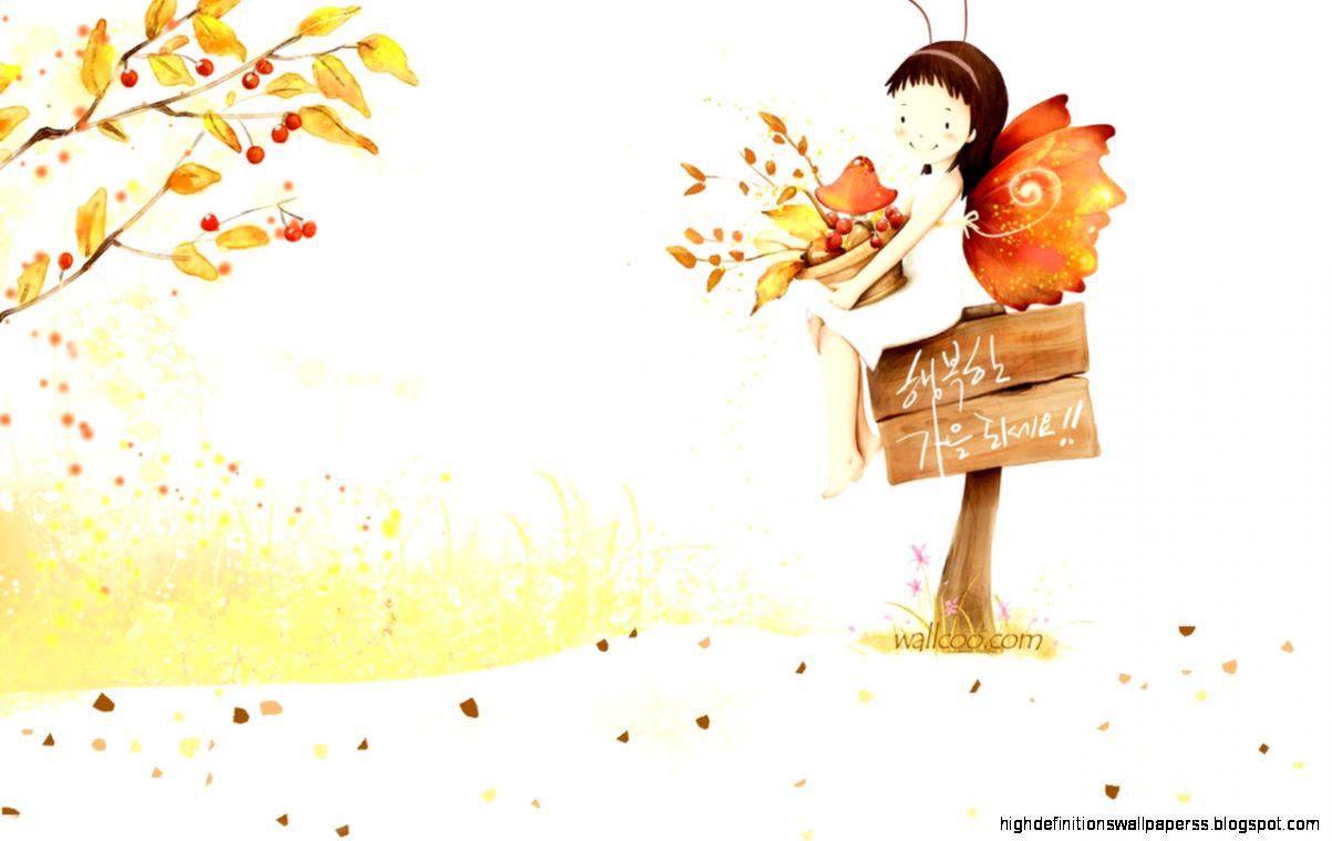cute girls cartoon artwork wallpaper | high definitions wallpapers