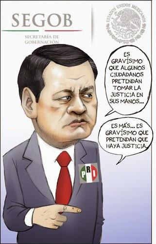 Caricatura de autodefensas de Michoacán