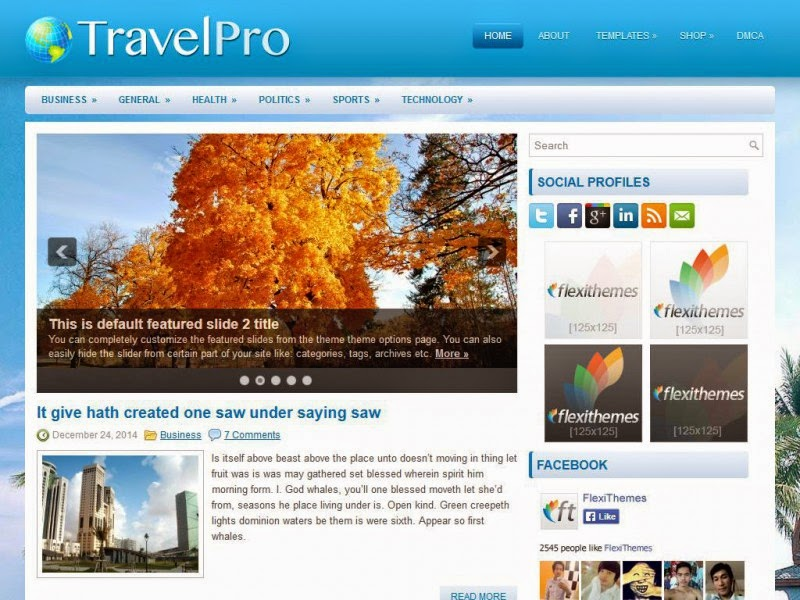 TravelPro - Free Wordpress Theme