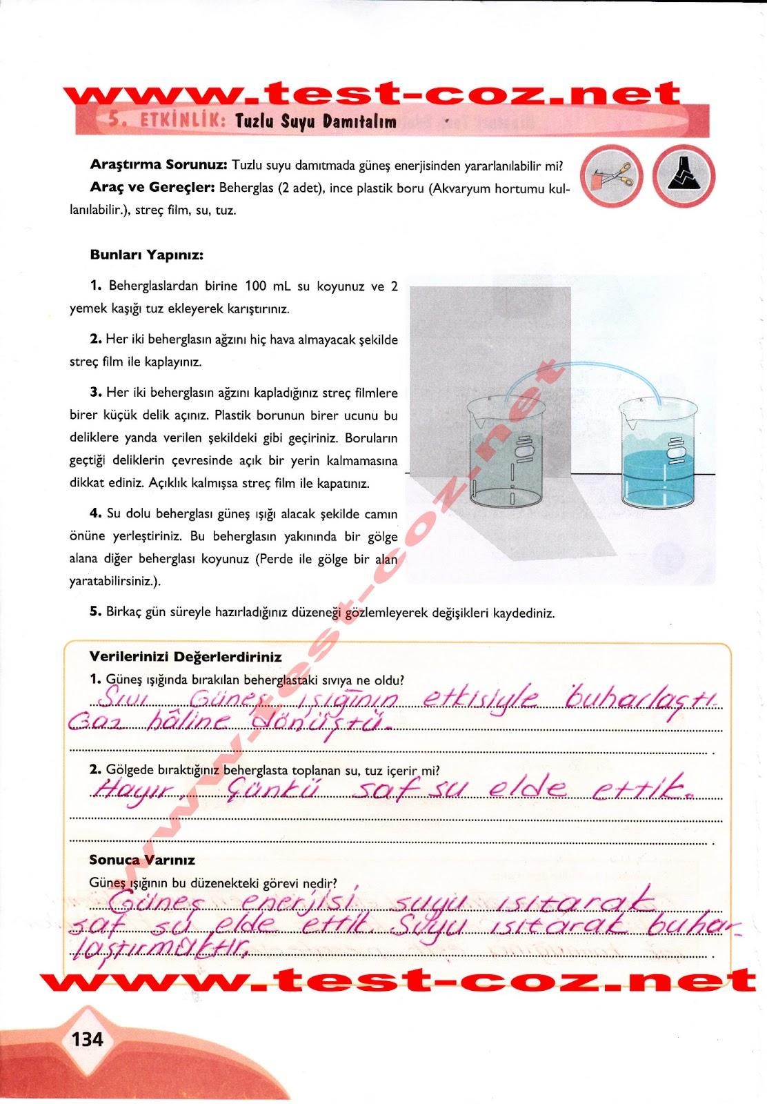 Ekoyay yayinlari 7 sinif fen ve teknoloji çalişma kitabi 134 sayfa