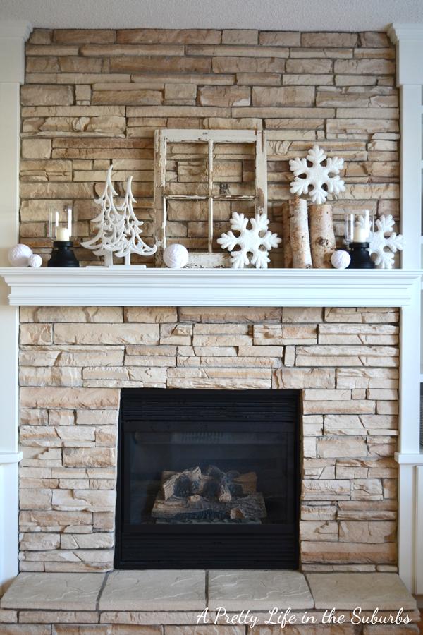 Winter Mantel Ideas On Pinterest Mantels Christmas