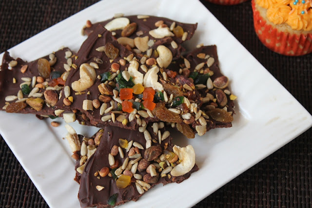 Easy Chocolate Bark Recipe – Chocolate Bark with Nuts & Dried Fruits Toppings