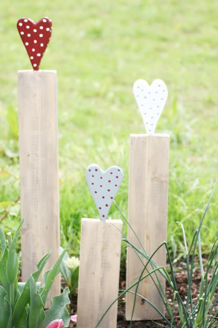 Holzlatten mit Herz, DIY