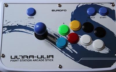 Une image du stick vue de dessus pour visualiser la position des boutons.